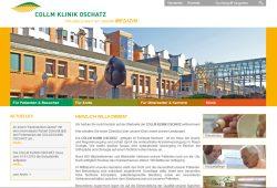 Website der Collm Klinik Oschatz. Screenshot: L-IZ