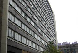 Hochhaus am Brühl 34-50 wird als Asylunterkunft geplant. Foto: Alexander Böhm