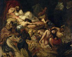 Eugène Delacroix: Der Tod des Sardanapal (Ölstudie, 1826 / 1827). Foto: Musée du Louvre