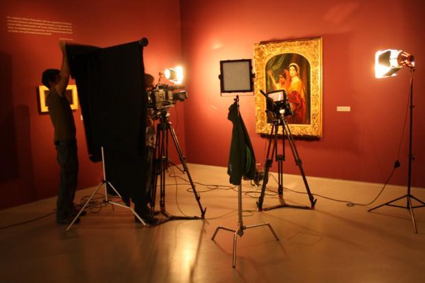 """Gleich mal fürs Fernsehen inszeniert: die """"Herodias mit dem Haupt Johannes des Täufers"""" von Paul Delaroche. Foto: Ralf Julke"""