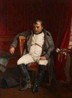 Paul Delaroche: Napoleon I. zu Fontainebleau am 31. März 1814 nach Empfang der Nachricht vom Einzug der Verbündeten in Paris (1845. Foto: Museum der bildenden Künste Leipzig