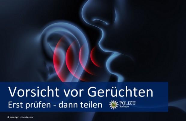 Gerüchte im Netz - vor allem bei Facebook. Ein beliebtes Mittel auch bei Legida und Pegida in Sachsen. Die Polizei warnt nun. Bild: Polizei Sachsen bei Facebook