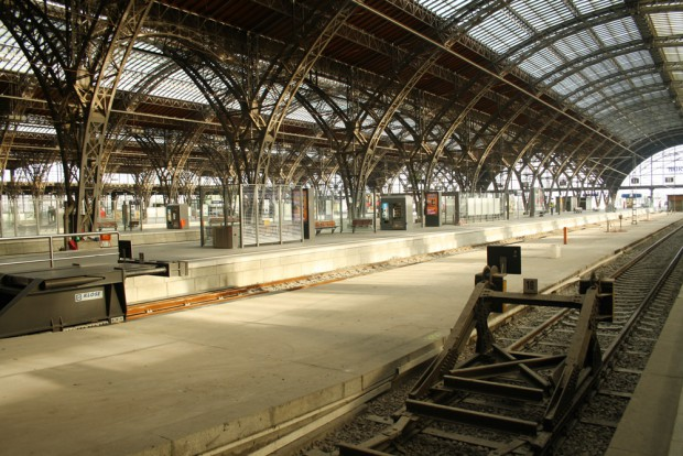 Bahnhof ohne Züge: der Leipziger Hauptbahnhof am 25. September 2015. Foto: Ralf Julke