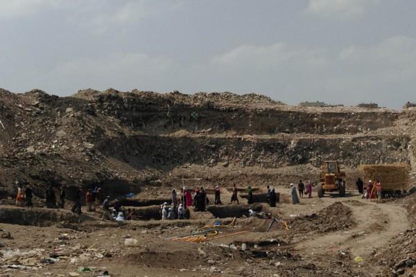 Grabungsgelände des Nektanebos Tempels. Foto: Dietrich Raue