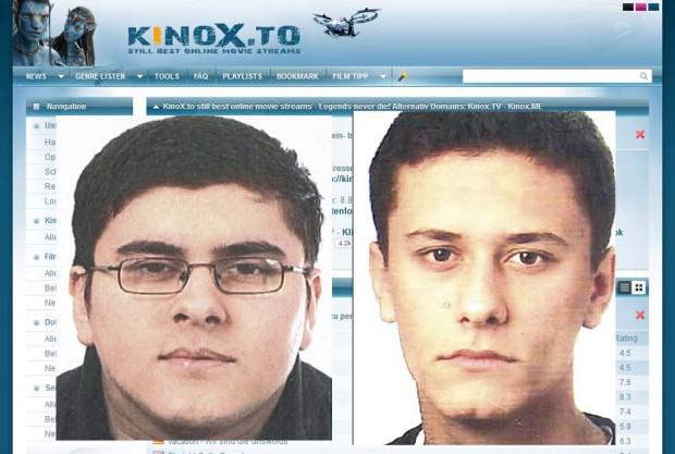 Kastriot und Kreshnik Salimi sollen KinoX.to aus dem Untergrund weiterbetreiben. Foto: LKA Sachsen/Screenshot