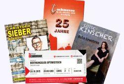 Kommen sofort ins Sammelalbum: Eintrittskarten zu Kinseher und Sieber. Foto: Karsten Pietsch