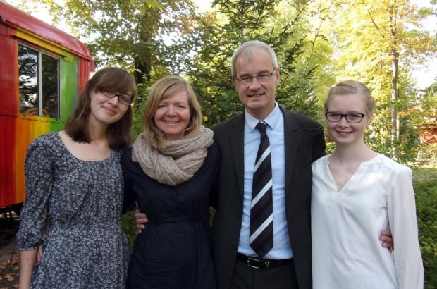 Andre Krause mit Familie. Foto: Wolfgang Höfchen