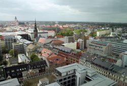 Leipzig aus der Vogelperspektive. Foto: Ralf Julke