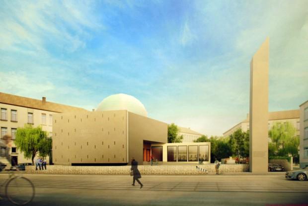 Der Siegerentwurf für die Ahmadiyya-Moschee. Visualisierung: Mustafa Ljaic