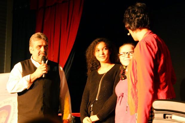 Klaus Petermann, Stella George, Jasmin Burkhard und Annekatrin Michler. Foto: Ralf Julke
