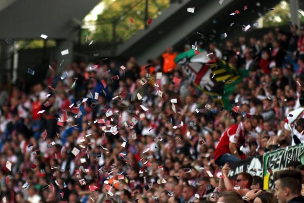 Jubel bei den Leipzigern über das gewonne Spiel. Foto: Alexander Böhm
