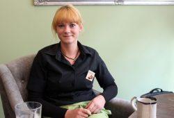 Die Chefin vom Lindencafé, Steffi Hennings. Foto: Volly Tanner