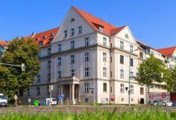 """Das modernisierte Studentenwohnheim """"Am Bayrischen Bahnhof"""". Foto: Studentenwerk Leipzig / Swen Reichhold"""