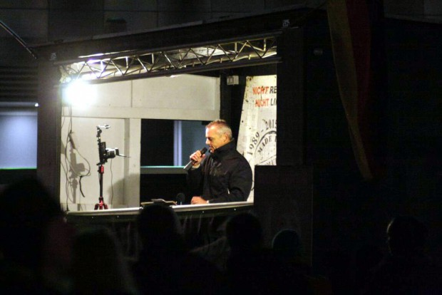 Heute der zweite Redner nach Markus Johnke in Leipzig: Thomas Festerling. Foto: L-IZ.de