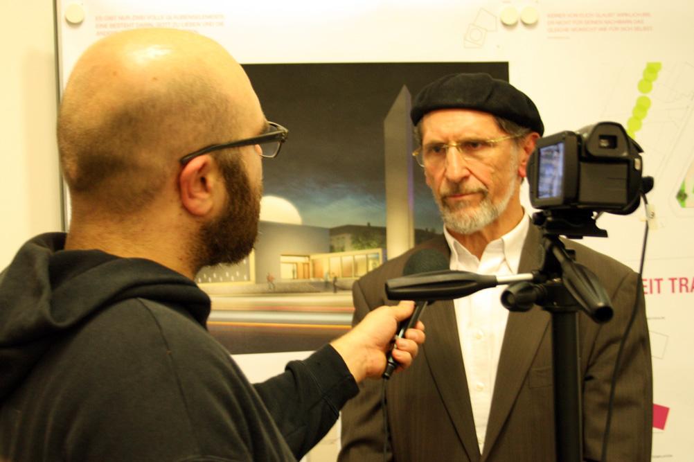 Uwe Wagishauser, Amir der deutschen Ahmadiyya-Gemeinde, im Interview. Foto: Ralf Julke