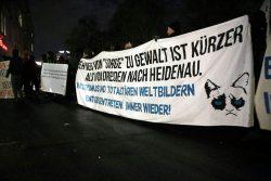 18:20 Uhr: Der Weg von Sorge zu Gewalt scheint kürzer als mancher denkt ... Foto: L-IZ.de