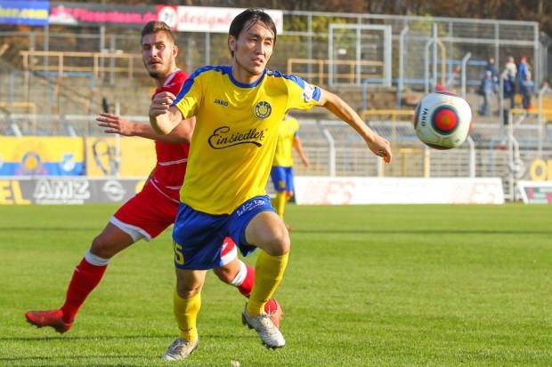 Hiromu Watahiki erzielte das erlösende 1:0 für Lok. Foto: Jan Kaefer