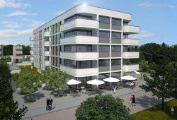 Der Entwurf des Leipziger Architekturbüros Augustin und Imkamp für die TOK Projekt GmbH. Visualisierung: Augustin und Imkamp