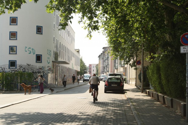 Die Biedermannstraße in Connewitz. Foto: Ralf Julke
