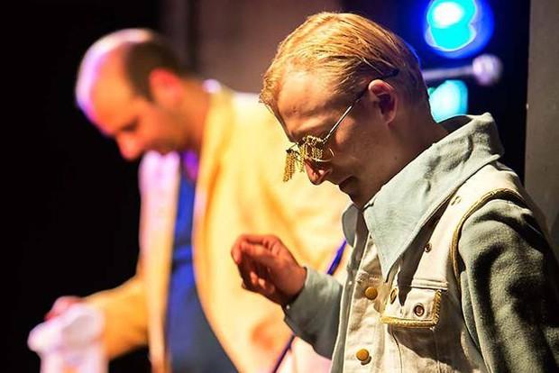 Le Clûb, Wenzel Banneyer (hinten) und Brian Völkner. Foto: Rolf Arnold