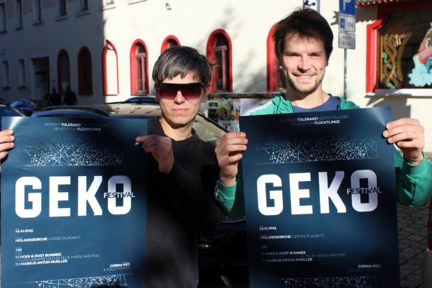 Die beiden Organisatoren des GEKO-Benefiz-Festivals Sebastian und Martin. Foto: Volly Tanner