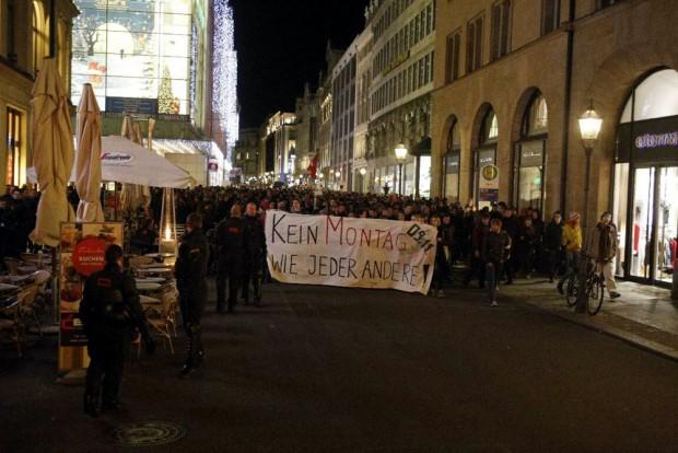 Kein Montag wie jeder andere - Legida läuft nicht Demo in der City von Leipzig. Foto: L-IZ.de