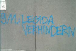 An der Uni stehts geschrieben. Legida verhindern am 9. November 2015. Foto: L-IZ.de