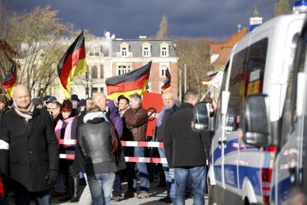 Merkel unerwünscht. Foto: Alexander Böhm