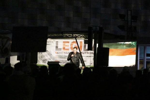 Michael Stürzenberger in Leipzig. Foto: L-IZ.de