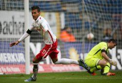 Davie Selke brachte RB Leipzig mit 1:0 in Führung. Foto: GEPA Pictures