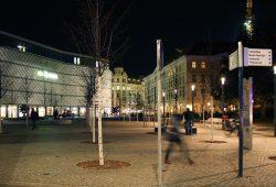Der Richard-Wagner-Platz mal ohne Polizeiabsperrung. Foto: Ralf Julke
