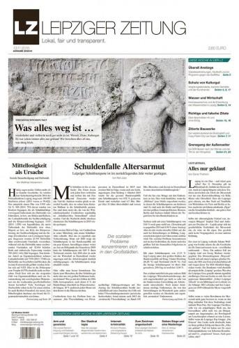 Die LZ - Ausgabe 25. Ab Freitag im Handel. Screen LEIPZIGER ZEITUNG