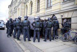 Der Polizeikessel bleibt für die meisten Betroffenen ohne strafrechtliche Folgen. Foto: Alexander Böhm