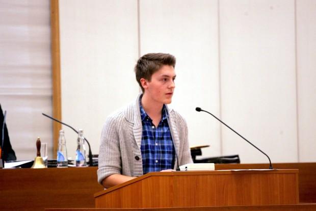 William Rambow vom Jugendparlament. Foto: L-IZ.de