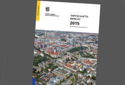 Wirtschaftsbericht 2015 der Stadt Leipzig. Cover: Stadt Leipzig
