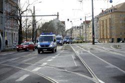 1100 Polizei zeigt Präsenz am Connewitz Kreuz