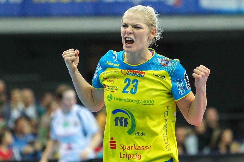 So intensiv wollen Shenia Minevskaja und ihr HCL-Team in den kommenden Wochen möglichst oft jubeln können. Foto: Jan Kaefer