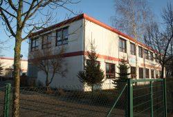 31. Grundschule: der Containerbau an der Franzosenallee. Foto: Ralf Julke