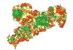 Sächsische Bevölkerungsentwicklung 2000 bis 2014. Karte: Freistaat Sachsen