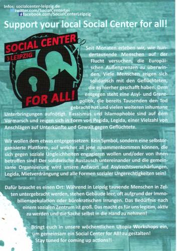 Der Flyer der Initiative, welcher am 16.12.2015 im Stadtrat herumlag. Scan L-IZ