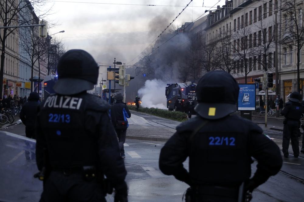 """Die Polizei musste am 12. Dezember (mal wieder) Feuerwehr """"spielen"""". Foto: L-IZ.de"""