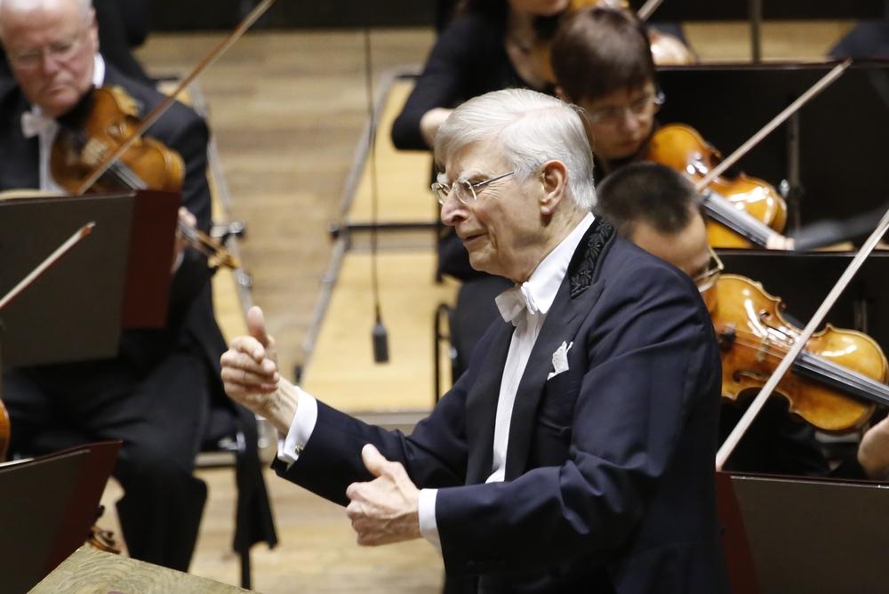 Dirigent Herbert Blomstedt. Foto: Alexander Böhm