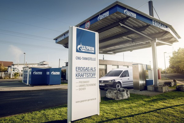 Gazprom-Tankstelle. Foto: Gazprom Germania