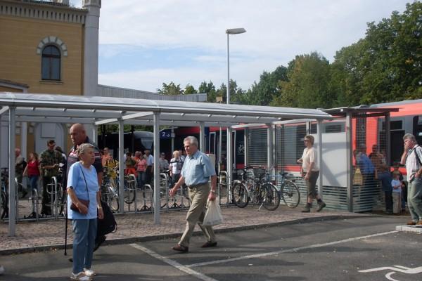 Zugankunft am Bahnhof Grimma. Foto: Stadt Grimma