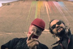 Katharsis (r) mit Gossenboss Zett (l) im Video Duke Nukem 3D. Foto: Katharsis Press