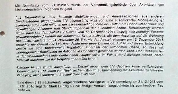 Konkretes für den 31. 12. 2015 ist nicht bekannt. Es wird auf die Kontinuität der Jahre und des Jahres 2015 verwiesen. Quelle: Stadt Leipzig, Twitter