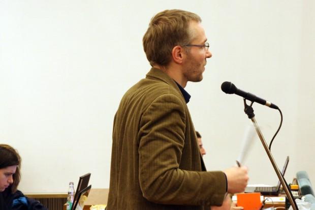 Mathias Weber (SPD) mit eigenem Antrag. Foto: L-IZ.de