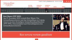 Gewandhaus-Homepage: Res severa verum gaudium. Screenshot: L-IZ