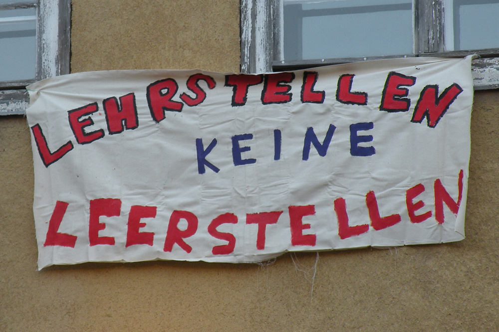 Leerstellen: Schülerprotest von 2012. Foto: Marko Hofmann