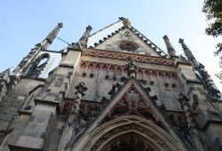 Westgiebel der Leipziger Thomaskirche. Foto: Ralf Julke